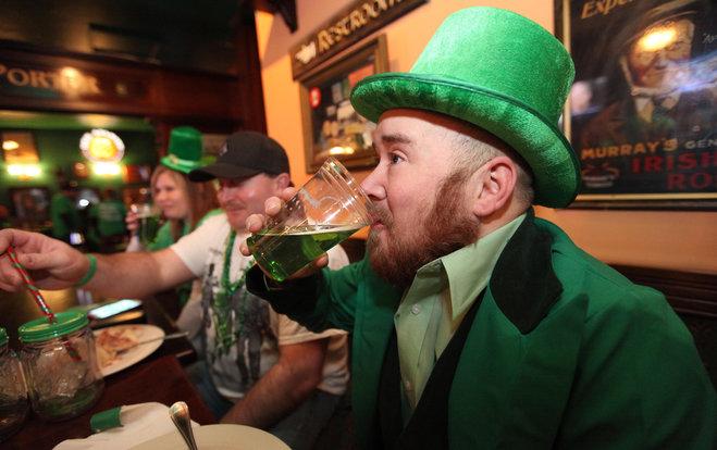 irish man drinking