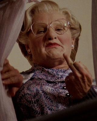 Mrs Doubtfire finger