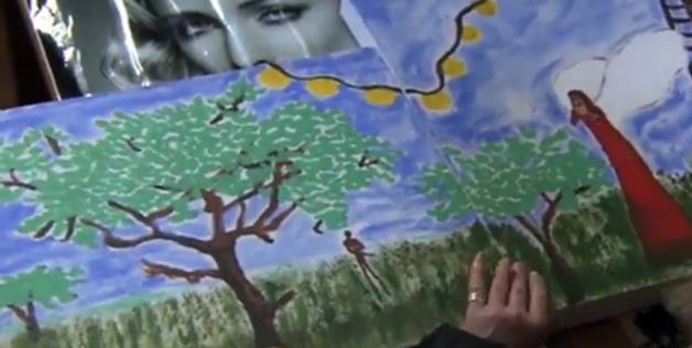 Reeva Steenkamp painting