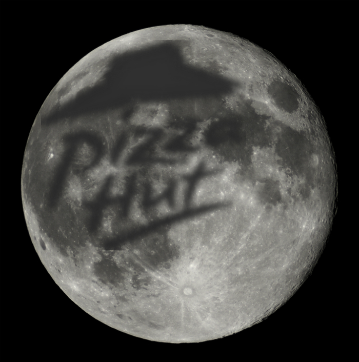 pizza engraving the moon