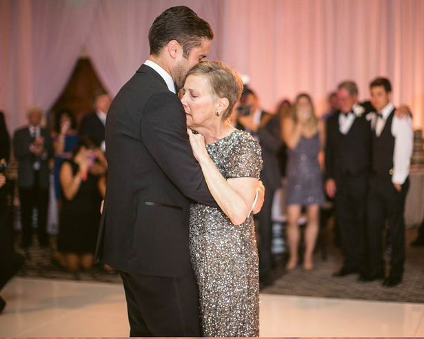 terminally-ill mother dances with son on wedding day