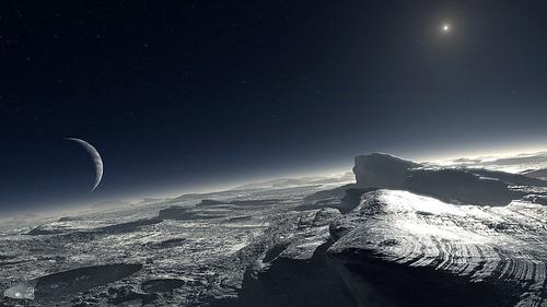 Pluto ice
