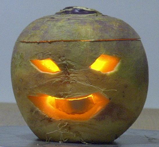 parsnip jack-o-lantern
