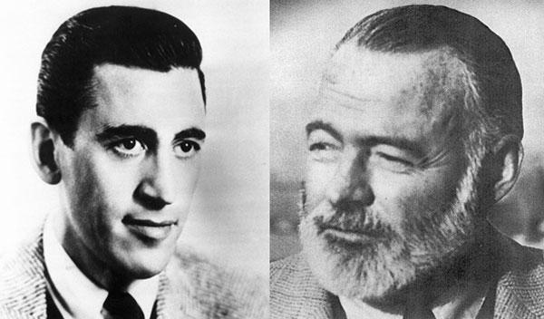 J.D. Salinger and Ernest Hemingway