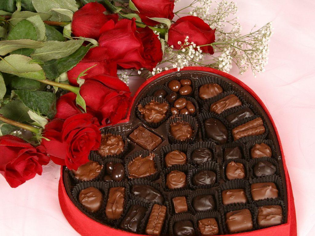 Cadbury's heart chocolate box