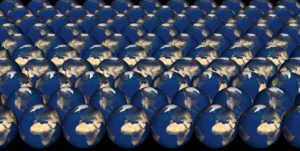 many earths