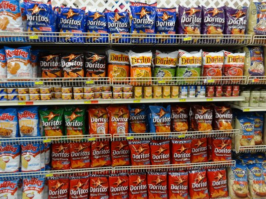 Doritos on shelf