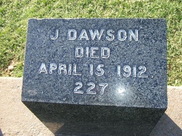 J Dawson real titanic passenger
