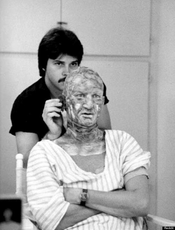 Freddy Krueger behind the scenes