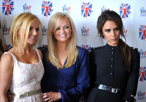 Geri, Emma and Victoria from the Spice Girls