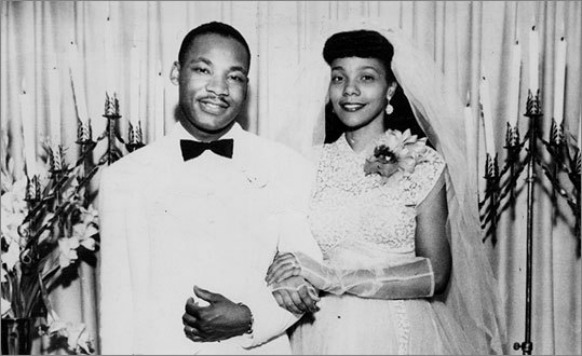 Martin Luther King Jr and wife