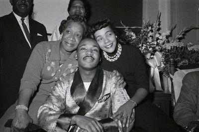 Dr. King At News Conference At Hospital
