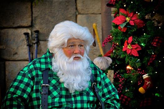 Santa in Disney World