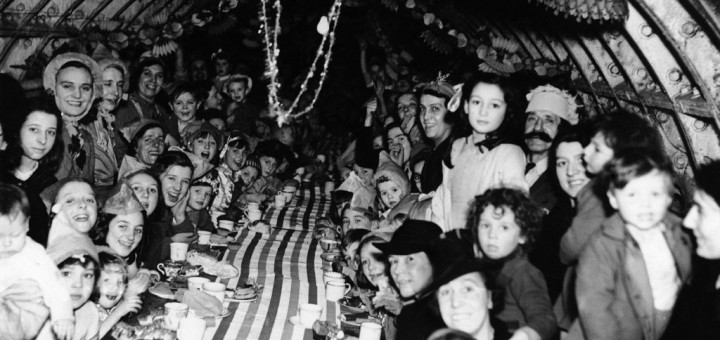 christmas in underground bomb shelter