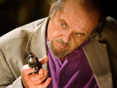 Jack Nicholson with gun in The Departed