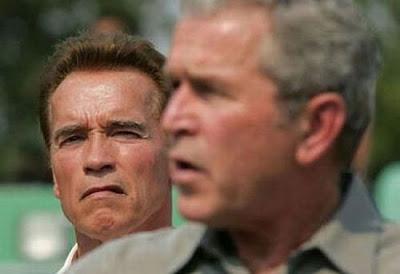 Arnold Schwarznegger George Bush funny photo