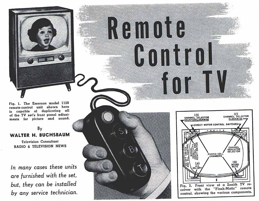 Zenith TV remote control ad