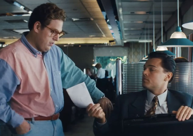 the wolf of wall street jonah hill and Leonardo Dicaprio