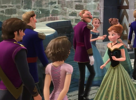 Tangled cameos in Frozen