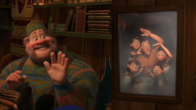 Oaken and his family from Frozen