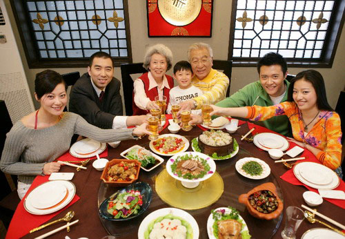 Chinese New Year family