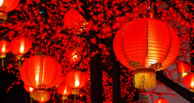 Chinese New Year red decorations