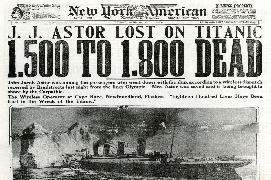 Titanic newspaper