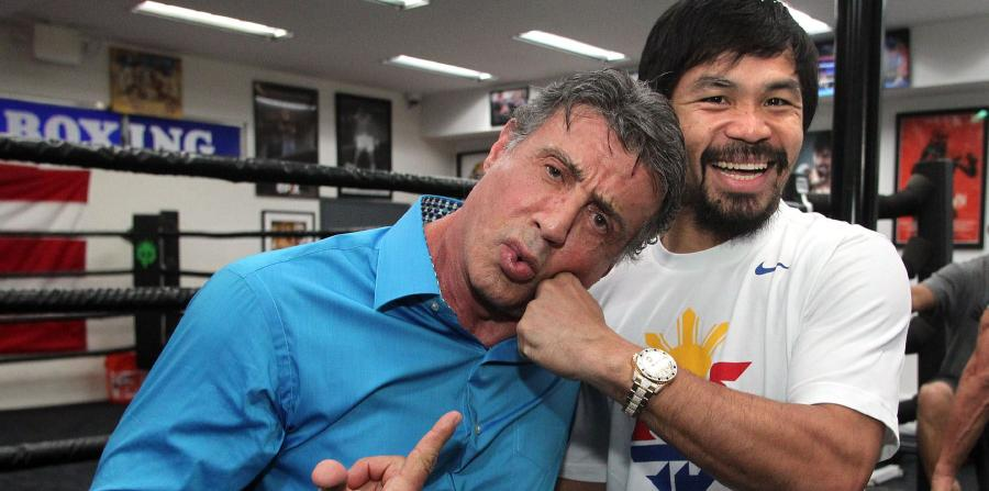 stallone and Pacquiao