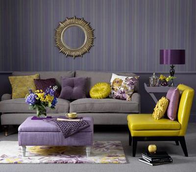 Contrasting home decor