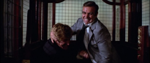 James Bond elevator fight