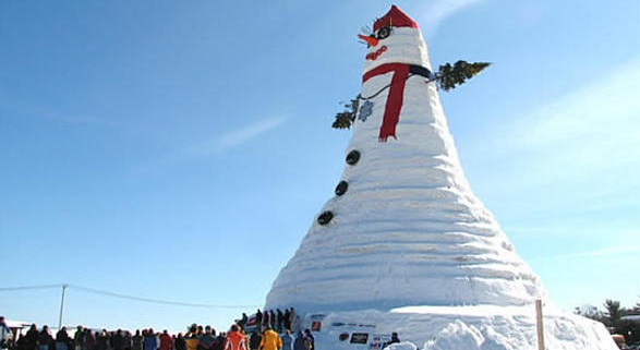 biggest snowman in the world