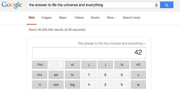 Meaning of life google