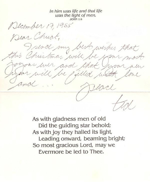 Ted Bundy Christmas card