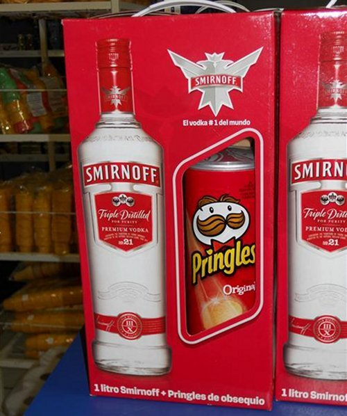 Pringles and Smirnoff