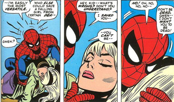 spiderman gwen stacy death