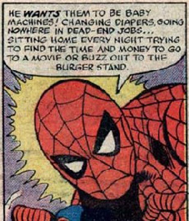 spiderman unprotected sex