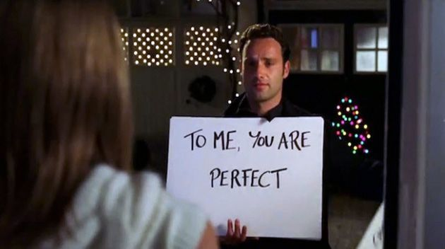 Love Actually sign scene