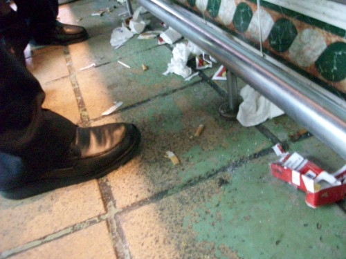 Spanish bar floor