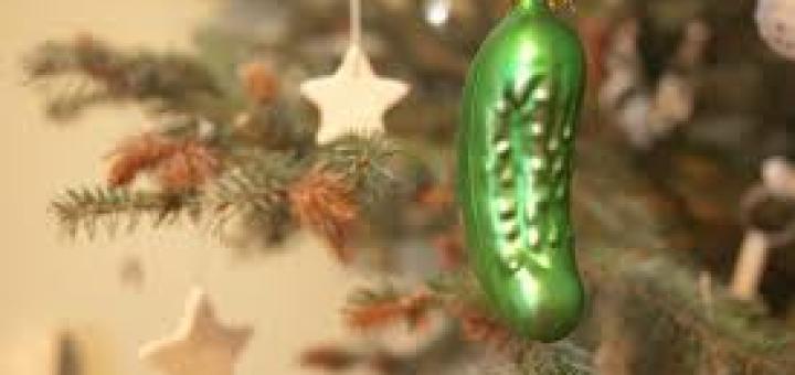 pickle on Christmas tree