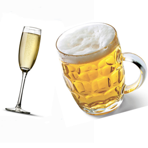 champagne vs beer