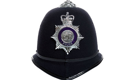 police officer's helmet