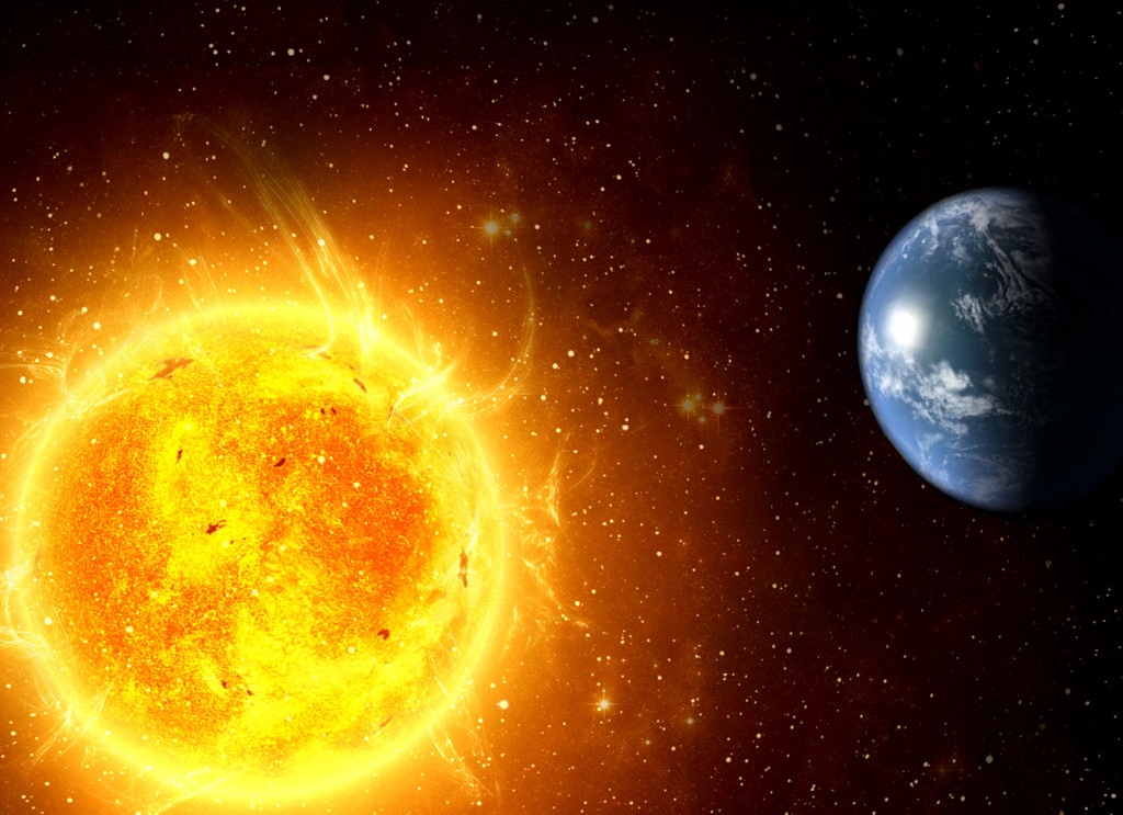 the sun and earth