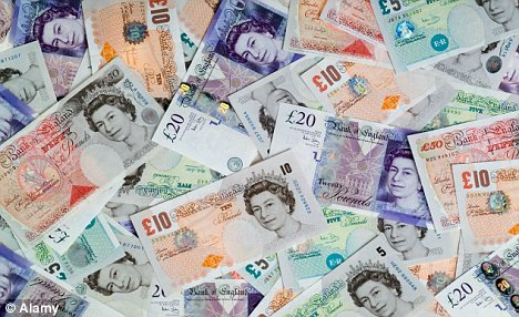 pile of British notes