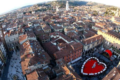 Couples Celebrate St. Valentine's Day In Verona
