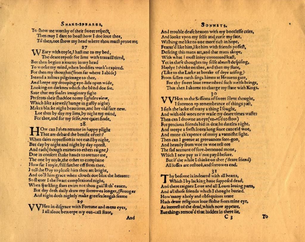 shakespeare sonnet