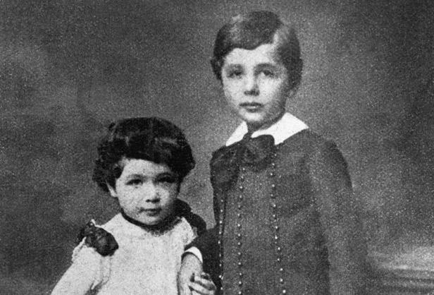 Albert and Maja Einstein As Children